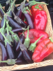 peppers & eggplant